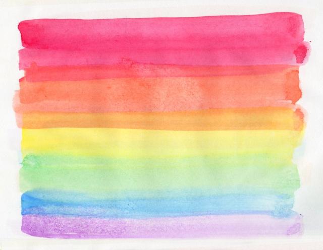 カラフルな虹